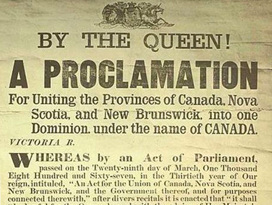 Canada's Birthday 1 July 1867